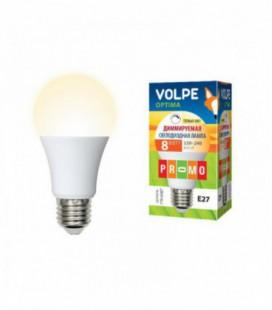 Светодиодная лампа диммирруемая серии Optima Dimmable LED-A60-8W/WW/E27/FR/DIM/O