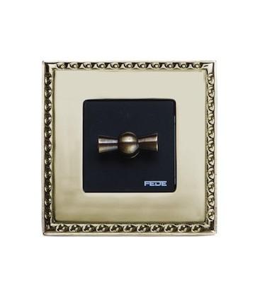 Поворотный выключатель в сборе FEDE коллекция Toledo, Real Gold