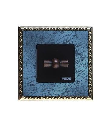 Поворотный выключатель в сборе FEDE коллекция Toledo, Oxyde Green