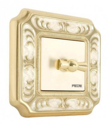 Поворотный выключатель в сборе FEDE коллекция SMALTO ITALIANO Siena, Gold White Patina