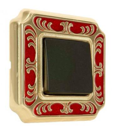Выключатель в сборе FEDE коллекция SMALTO ITALIANO Siena, Red