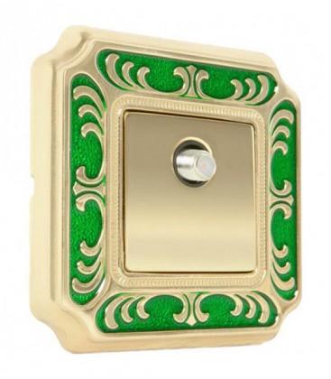 ТВ розетка в сборе FEDE коллекция SMALTO ITALIANO Siena, Green
