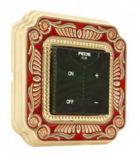 Диммер с сенсорным управлением в сборе FEDE коллекция SMALTO ITALIANO Firenze, Red