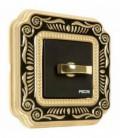Поворотный выключатель в сборе FEDE коллекция SMALTO ITALIANO Firenze, Black