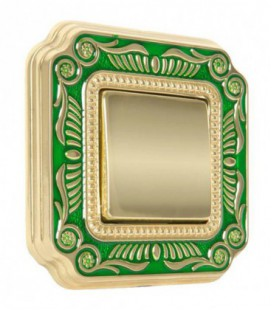 Выключатель в сборе FEDE коллекция SMALTO ITALIANO Firenze, Green