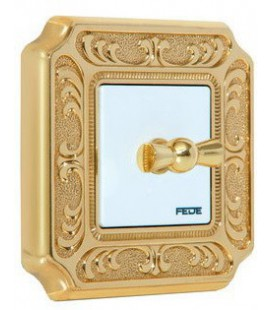Поворотный выключатель в сборе FEDE коллекция SIENA, Bright Gold