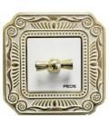 Поворотный выключатель в сборе FEDE коллекция FIRENZE, Gold White Patina
