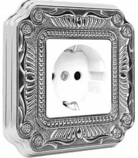 Розетка в сборе FEDE коллекция FIRENZE, Bright Chrome