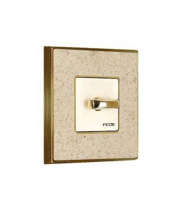 Поворотный выключатель в сборе FEDE коллекция Vintage Corinto, Auroramarble-Bright Gold