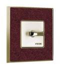 Поворотный выключатель в сборе FEDE коллекция Vintage Corinto, Pompeired-Bright Gold