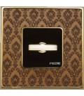 Поворотный выключатель в сборе FEDE коллекция Vintage Tapestry, Decorbrass-Bright Gold