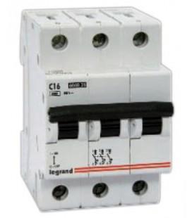 Автоматический выключатель Legrand TX3 3 фазы 10A 3М (Тип C)