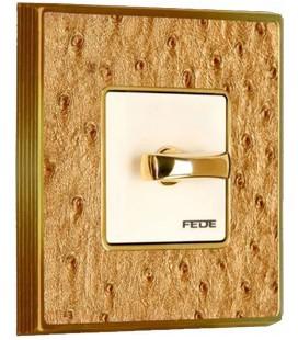 Поворотный выключатель в сборе FEDE коллекция Vintage Tapestry, Alienasilver-Bright Gold