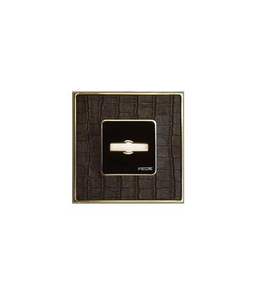 Поворотный выключатель в сборе FEDE коллекция Vintage Tapestry, Alicocobrown-Bright Gold