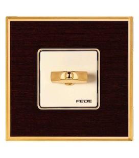 Поворотный выключатель в сборе FEDE коллекция Vintage Wood, Wenge-Bright Gold