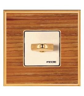 Поворотный выключатель в сборе FEDE коллекция Vintage Wood, Cherry-Bright Chrome