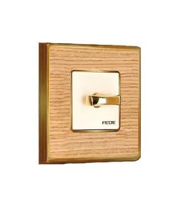 Поворотный выключатель в сборе FEDE коллекция Vintage Wood, Oak-Bright Chrome