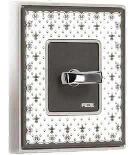 Поворотный выключатель в сборе FEDE коллекция Vintage Porcelain, Black Lys-Bright Gold