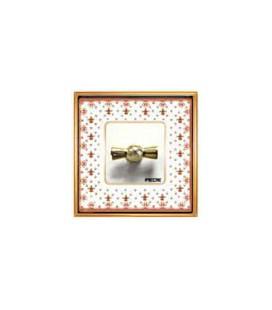 Поворотный выключатель в сборе FEDE Vintage Porcelain, Brown Lys-Bright Gold