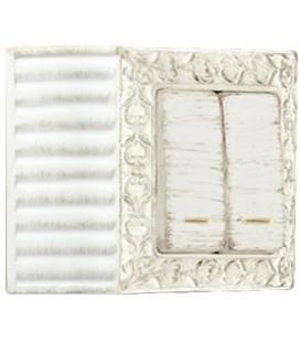 Двухклавишный выключатель в сборе FEDE коллекция SAN SEBASTIAN SURFACE, White Decape