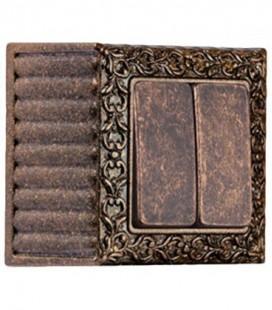 Двухклавишный выключатель в сборе FEDE коллекция SAN SEBASTIAN SURFACE, Rustic Copper