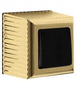 Выключатель в сборе FEDE коллекция ROMA SURFACE, Bright Gold