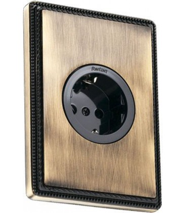 Розетка со шторками Fontini Collection 1950, Черный
