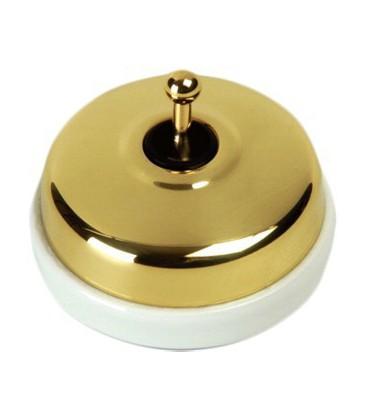 Выключатель тумблерный Fontini Collection Dimbler, золото