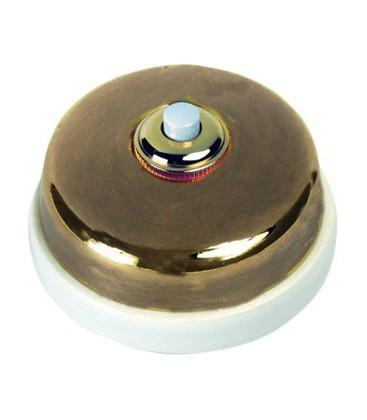 Кнопка нажимная Fontini Collection Dimbler, бронза