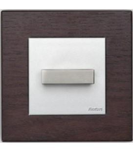Поворотный выключатель Fontini Collection F-37, рамка дерево цвета венге, ручка нержавеющая сталь