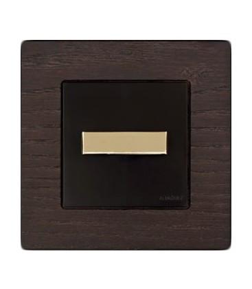 Поворотный выключатель Fontini Collection F-37, рамка дерево цвета венге, ручка золото