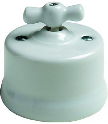 Поворотный выключатель Fontini Collection Garby, фарфор белый