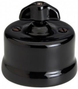 Поворотный выключатель Fontini Collection Garby, черный фарфор