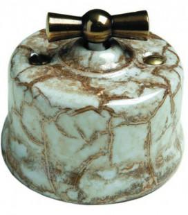 Поворотный выключатель Fontini Collection Garby, мрамор, ручка бронза