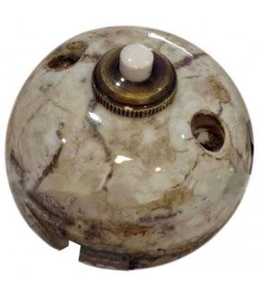 Выключатель-кнопка Fontini Collection Garby, фарфор под мрамор Reggia