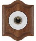 Выключатель тумблерный Fontini Collection Venezia Clasica, рамка сапелли, накладка белый/бронза
