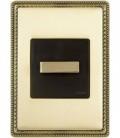 Поворотный выключатель Fontini Collection Venezia Metal, рамка золото, накладка золото/коричневый