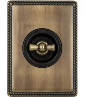 Поворотный выключатель Fontini Collection Venezia Metal, бронза, накладка бронза/коричневый