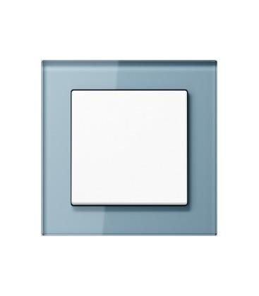 Выключатель Jung серия A Creation, стекло серо-голубое
