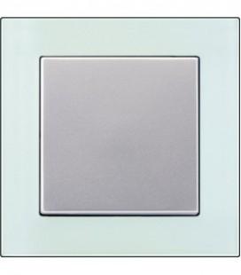 Выключатель Jung серия A Creation, стекло матовое/алюминий