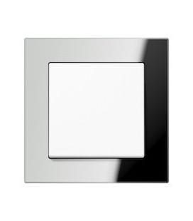 Выключатель Jung серия A Creation, стекло серебро (зеркало)