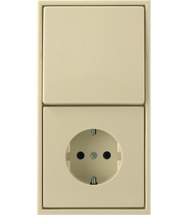 Розетка и выключатель Jung серия LS 990, слоновая кость