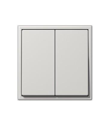 Двухклавишный выключатель Jung серия LS 990, светло-серый