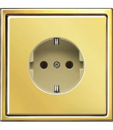 Розетка Jung серия LS 990, золото