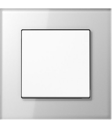 Выключатель Jung серия LS Plus, белое стекло