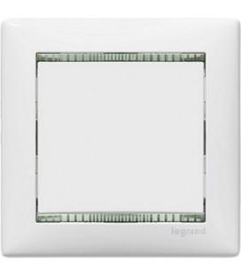 Выключатель Legrand серия Valena, белый/кристалл