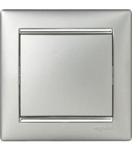 Выключатель Legrand серия Valena, алюминий/серебряный штрих