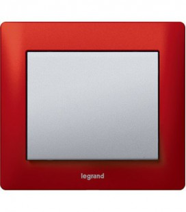 Выключатель Legrand серия Galea Life, Magic red/алюминий
