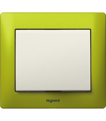 Выключатель Legrand серия Galea Life, Magic Green/жемчуг