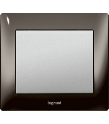 Выключатель Legrand серия Galea Life, Black nickel/алюминий